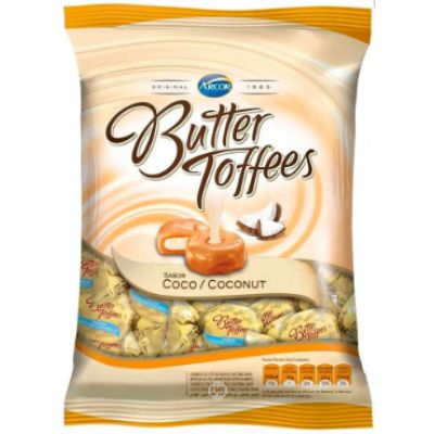 Bala Arcor Butter Toffees Coco 100 Gr