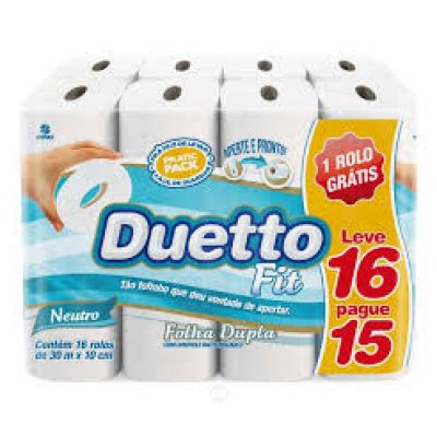 Papel Higienico Duetto Fit 16X30Mt