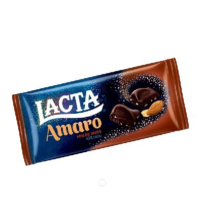 Chocol.barra Lacta Amaro Mix Cast 90 Gr