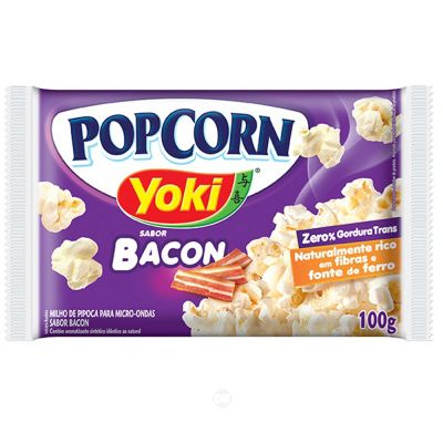 Pipoca Pop Corn Yoki Bacon 100 Gr