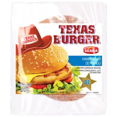 Hamburguer Seara Texas Burger Fgo 56 Gr