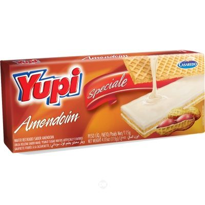Wafer Yupi Speciale Amendoim 115 Gr
